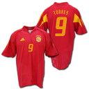 【ユーロ2004モデル】スペイン代表 2004 ホーム(赤) #9 TORRES トーレス ADIDAS