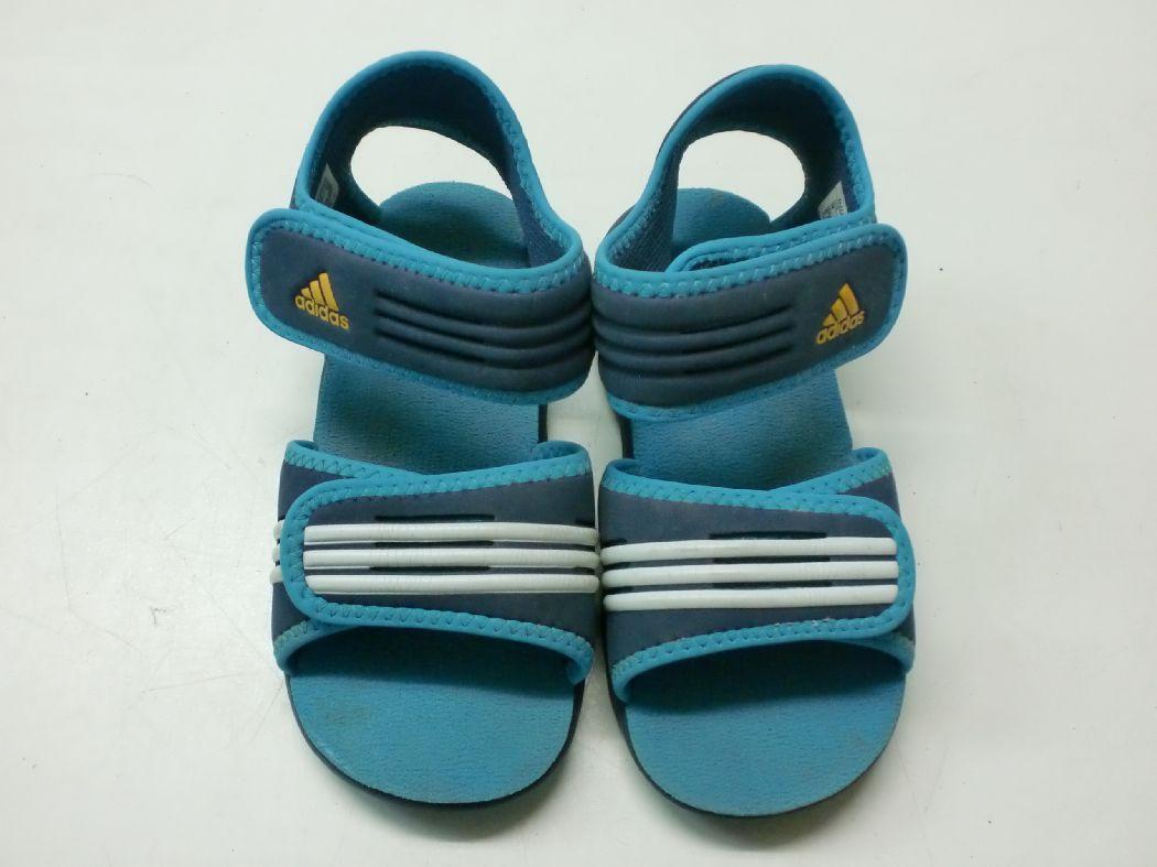 【中古】【あす楽可】【adidas/アディダス】キッズ スポーツサンダル★16cm/ネイビー×ブルー★ダブルのベルクロで脱ぎ履き楽々です!