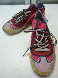 【中古】【あす楽可】PUMA/プーマ■917 ロウ ファクトリー ウィメンズ 348320 02■23.5cm/UK4 1/2/US'W7/EUR37 1/2■アザレアピンク×スペクトライエロー■靴そのものをキャンバスに見立て、ペイントをしたようなプーマらしい遊び心のある斬新なデザイン♪