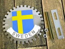 新品未使用スウェーデン国旗カーエンブレム/グリルバッジ【M-10788】【ネコポスのみ送料無料】