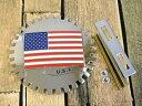 新品未使用アメリカUSA星条旗カーエンブレム/グリルバッジ【M-10791】【ネコポスのみ送料無料】