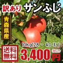 青森りんご☆送料無料☆訳ありりんごサンふじ10kg(10キロ)28〜40玉【わけありりんご】 発送は11月22日頃から