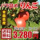 青森りんご☆送料無料☆バラ詰めりんご12kg(12キロ前後)