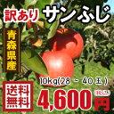 青森りんご☆送料無料☆訳ありりんごサンふじ10kg(10キロ)28�40玉【わけありりんご】 発送は11月22日頃から