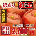 青森りんご☆送料無料☆訳あり紅玉4キロ〜4.5キロ18〜28玉