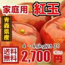 青森りんご☆送料無料☆家庭用紅玉4〜4.5キロ28玉