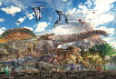 【送料無料】 ジグソーパズル 40おおきピース 恐竜大きさ比べ 26x38cm 40-007