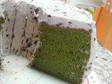 抹茶シフォンケーキ(あずきクリーム)4ピース
