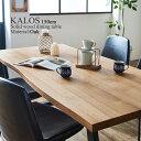 ダイニングテーブル 単品 150cm 4人用 オーク 無垢 天然木 スチール脚 北欧 天然木 おしゃれ 木製 一枚板風