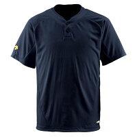 デサント(DESCENTE) ベースボールシャツ(2ボタン) (野球) DB201 ブラック Mの画像