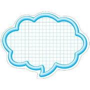 ササガワ タカ印 抜型カード 16-4193 吹出大 ブルー 16-4193
