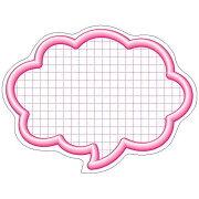 ササガワ タカ印 抜型カード 16-4192 吹出大 ピンク 16-4192