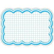 ササガワ タカ印 抜型カード 16-4197 雲形大 ブルー 16-4197