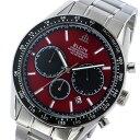 エルジン ELGIN クロノ クオーツ メンズ 腕時計 FK1401S-R レッド レッド(バンド調整器付)
