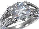 ローズカット ダイヤ ダイヤモンド 2.53ct 0.36ct リング 指輪 Pt900/プラチナ【中古