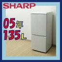 中古冷蔵庫 k-sh-4012【SH 2005年製 135L Dランク SJ-514-W-WH】{SHARP シャープ 冷蔵庫 2ドア 冷凍冷蔵庫[Cサイズ][冷C][130L-][hikid..