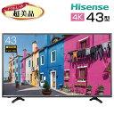 【中古】 Hisense ハイセンス 液晶テレビ 4K 43型 43インチ 大型 新古 HJ43K300U tv-257