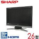 【中古】 SHARP シャープ AQUOS アクオス 液晶テレビ 26型 26インチ 地デジ BS CS LC-26D10 tv-332