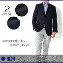 ジャケット 春夏メンズジャケット/軽くて涼しい/ネイビー チェック S M L LL 2ボタンジャケットテーラードジャケット
