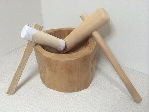木製臼キネセット1升用(北海道の天然木使用)+お子様用ミニキネ