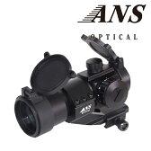 【送料無料キャンペーン】【ドットサイト】ANS Optical AIM COMP M3タイプ ドットサイト オフセットハイマウント付 レッド&グリーン /サバイバルゲーム/サバゲー 装備