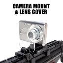 ◆オトナ買い対象商品◆ANS Optical カメラマウントアタッチメント ウェアラブルアダプター + レンズカバー(2色)セット