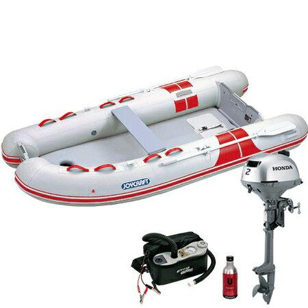 ゴムボート 4人乗り 2馬力セット ジョイクラフト BBS-315(予備検査無)+ホンダ2馬力4ストローク船外機セット