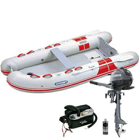 ゴムボート 4人乗り 2馬力セット ジョイクラフト BBS-315(予備検査無)+ヤマハ2馬力4ストローク船外機セット