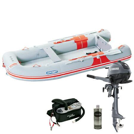 ジョイクラフト(JOYCRAFT) 5人乗りゴムボート オレンジペコ323ワイド(予備検査付)+ヤマハ2馬力4ストローク船外機セット