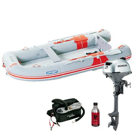 ジョイクラフト(JOYCRAFT) 5人乗りゴムボート オレンジペコ323ワイド(予備検査付)+ホンダ2馬力4ストローク船外機(BF2DH)セット