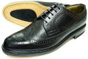 British Classic 本革底 ウィングチップ ビジネスシューズ(型押)黒 3E(EEE)/メンズ・革靴・紳士靴