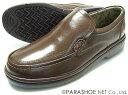THREE COUNTRY 本革 プレーンスリップオン ビジネスシューズ 茶色(ダークブラウン)ワイズ4E(EEEE) 23cm(23.0cm) 23.5cm 24cm(24.0cm)[小さいサイズ(スモールサイズ)メンズ革靴 紳士靴]
