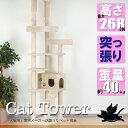 大きな猫ちゃんに キャットタワー 突っ張り スリム CW-RT022 高さ228〜268cmまで対応...