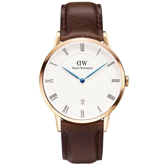 【正規品・2年保証】Daniel Wellington ダニエル・ウェリントン Dapper Bristol Rose Gold 1103DW ダッパー/ローズゴールド 38mm メンズ レディース 腕時計【送料無料・即納・ラッピング無料】【02P03Dec16】 ダニエル ウェリントンの時計は交換可能なストラップで、時を越えてどこでもオシャレを楽しめる時計です。