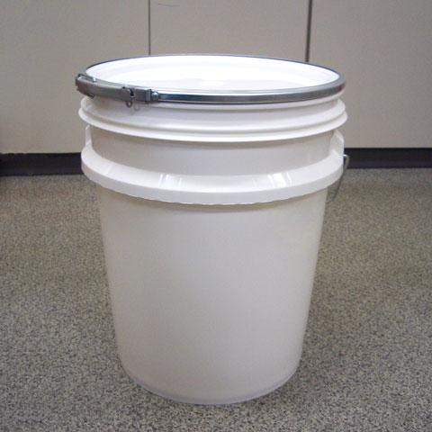 【10本セット/送料無料!(一部地域除く)】20リットル プラスチック製オープンペール缶蓋・外レバーバンド付(通常缶) p9r