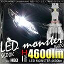 【前照灯】トヨタ ハリアー ZSU60/65 ハイビームライト対応LED MONSTER L4600 LEDハイビームバルブキット LEDカラー:ホワイト6600K バルブ規格:HB3[9005] 品番:LMN111【あす楽】【5%OFFクーポン発行中】