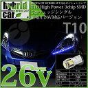 【車幅灯】ホンダ FIT fit フィットハイブリッドGP1 ポジションランプ対応LED T10 High Power 3chipSMD5連ウェッジ球2球入【ハイブリッド車対応LED】【あす楽】