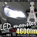 【前照灯】スバル XVハイブリッド[GPE前期モデル]ハイビームランプ用LED MONSTER L4600 LEDバルブキットLEDカラー:ホワイト6600K バルブ規格:HB3【5%OFFクーポン】