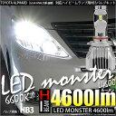 【前照灯】トヨタ アルファード[GGH/ANH20系後期]ハイビームライト対応LED MONSTER L4600 LEDハイビームバルブキット LEDカラー:ホワイト6600K バルブ規格:HB3[9005] 品番:LMN11【5%OFFクーポン】