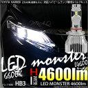 【前照灯】トヨタ ハリアー[ZSU60系 前期モデル]ハイビームライト対応LED MONSTER L4600 LEDハイビームバルブキット LEDカラー:ホワイト6600K バルブ規格:HB3[9005] 品番:LMN11【5%OFFクーポン】