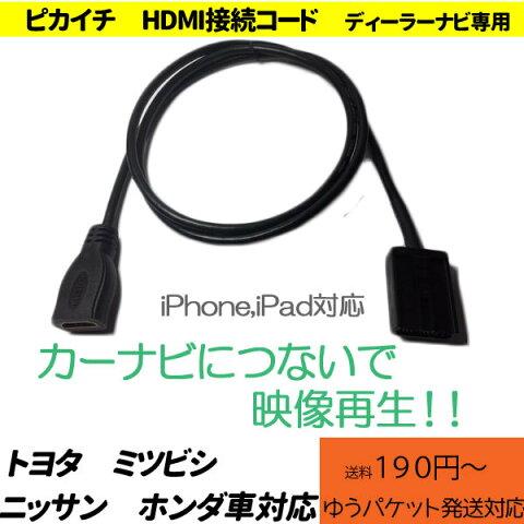 ピカイチ ホンダ ミツビシ ニッサン トヨタ  HDMI接続変換コード   [入力端子:HDMI タイプAコネクターメス/出力端子:HDMI タイプEコネクターオス ] IPhoneやIPodで動画再生! 175VFEi 165VFEi 165VFNi 155VFi 155VFNi 145VFNi 145VFi