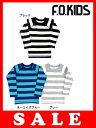 セール20%OFF[メール便送料無料]エフオーキッズ F.O.KIDS ワンポイント刺繍ボーダーTシャツ