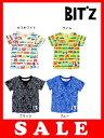セール50%OFF[メール便OK]bit'z(ビッツ)4色2柄総柄Tシャツ 2016年夏新作