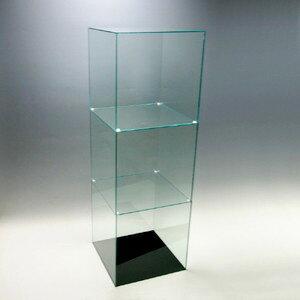 【送料無料】アクリル3段ケースB/5面体/ガラスエッジ/幅30cm/奥行30cm/高さ91.2cm
