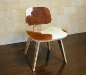 イームズ DCW ポニー ブラウン×ホワイト リビングチェアウッド ウォールナット(walnut) チャールズ&レイ・イームズ Charles & Ray Eames パーソナルチェアダイニングチェア 椅子 デザイナーズ家具 pony