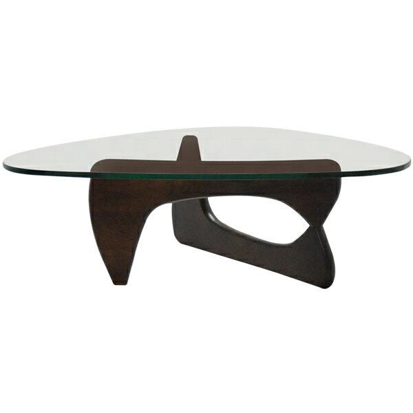 イサムノグチ/コーヒーテーブル/強化ガラス19mm×ウォールナット/高品質デザイナーズテーブル 新品 coffee table Isamu Noguchi センターテーブル 座卓 ちゃぶ台 ダイニングテーブル 一人用 1人用 一人暮らし デザイナーズ家具