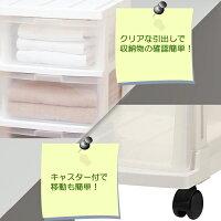 押入れ整理、衣類整理に便利!キャスター付押入れ専用ストッカ
