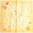 【新古品】 エルメス HERMES スカーフ カレ 40 45 プチカレ シルク 薔薇の雫 花柄 バラ フラワー ミニスカーフ バンダナ レディース イエロー オレンジ 黄色 赤 p2020071486