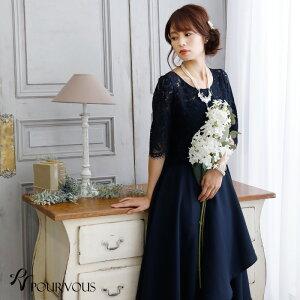 パーティードレス 結婚式 ワンピース ドレス フォーマ