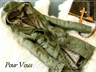Down coat down spring coat outer outer coat jacket military (d) next meeting invited khaki Dolman faked fur 1151 fall new large size down jacket